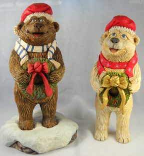 Christmas Bear carving rough out by Dale Green