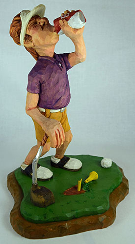 Divot Dave carving rough out by Dale Green