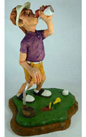Divot Dave by Dale Green Wood Carving