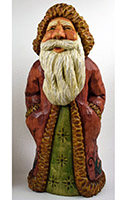 Holly Jolly Santa Roughout carving by Dale Green