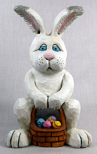 Spring Time Bunny carving rough out by Dale Green