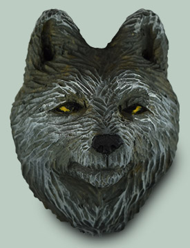 Wolf Frig Magnet carving rough out by Dale Green