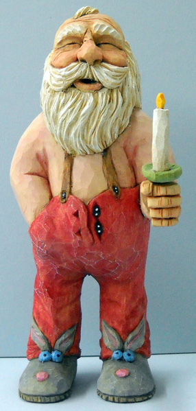 Nightime Santa carving rough out by Dale Green